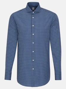 Jacques Britt Fine Pattern Poplin Shirt Navy