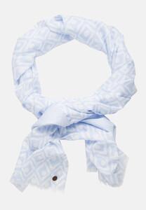 Jacques Britt Fine Pattern Scarf Sjaal Licht Blauw