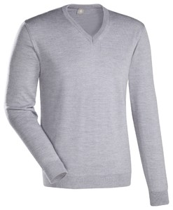 Jacques Britt JB Merino V-Neck Pullover Light Grey