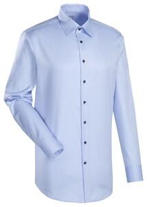 Jacques Britt Messina Slim Overhemd Blauw