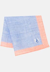 Jacques Britt Pastel Faux Uni Pocket Square Blue