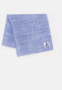 Jacques Britt Pastel Faux Uni Pocket Square Dark Blue Extra Melange