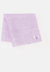 Jacques Britt Pastel Faux Uni Pocket Square Purple