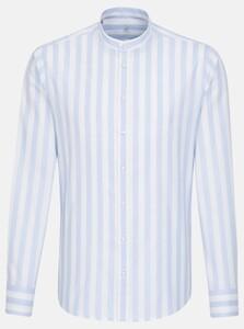 Jacques Britt Perfect Fit Stripe Overhemd Licht Blauw