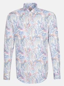 Jacques Britt Poplin Color Fantasy Overhemd Rood