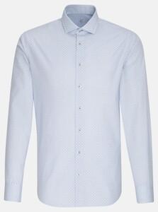 Jacques Britt Poplin Fine Pattern Overhemd Intens Blauw