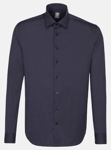 Jacques Britt Poplin Uni Como Shirt Navy