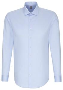 Jacques Britt Slim Kent Business Overhemd Blauw