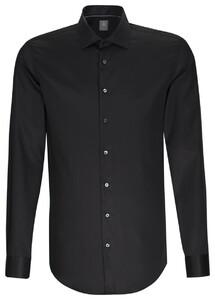 Jacques Britt Slim Kent Business Overhemd Zwart