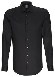 Jacques Britt Slim Kent Business Shirt Black