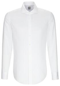 Jacques Britt Slim Uni Shark Overhemd Wit