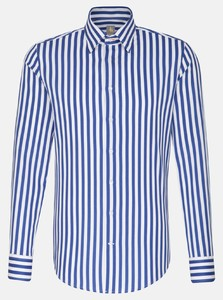 Jacques Britt Striped Stucture Shirt Sky Blue Melange