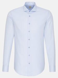 Jacques Britt Subtle Faux Uni Fine Structure Overhemd Licht Blauw