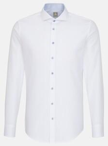 Jacques Britt Subtle Faux Uni Fine Structure Overhemd Wit