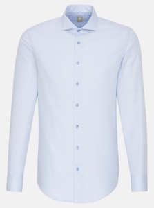 Jacques Britt Subtle Faux Uni Fine Structure Shirt Light Blue