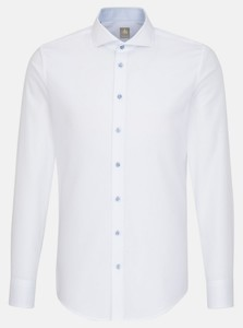 Jacques Britt Subtle Faux Uni Fine Structure Shirt White