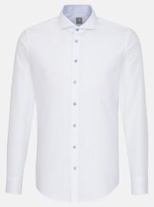 Jacques Britt Subtle Faux Uni Structure Overhemd Wit