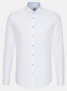 Jacques Britt Subtle Faux Uni Structure Shirt White