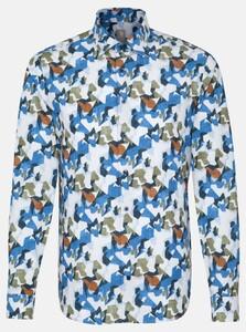 Jacques Britt Twill Fantasy Overhemd Pastel Blauw
