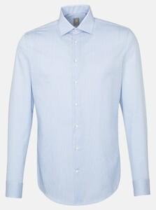 Jacques Britt Twill Stripe Shirt Blue