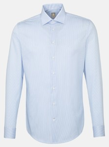 Jacques Britt Twill Striped Business Shirt Blue