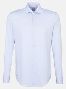 Jacques Britt Twill Uni Kent Overhemd Blauw