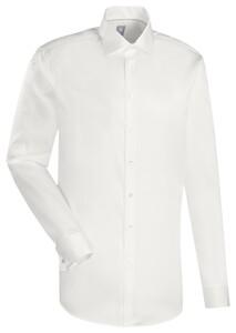 Jacques Britt Uni Dubbele Manchet Overhemd Ecru