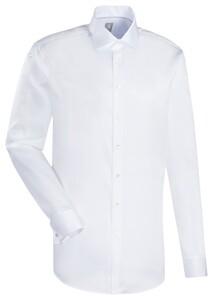 Jacques Britt Uni Dubbele Manchet Overhemd Wit