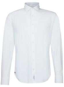 Jacques Britt Uni Jersey Overhemd Wit