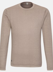 Jacques Britt Uni Round Neck Trui Brown Roots