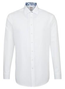 Jacques Britt Uni Subtle Contrast Overhemd Wit