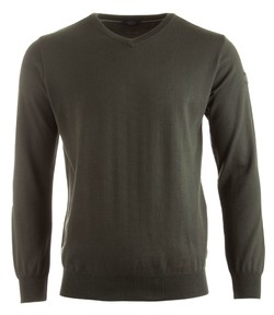 Paul & Shark Three in One Cool Touch Wool V-Neck Mosgroen