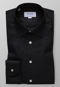 Eton Oxford Button Under Licht Grijs Melange