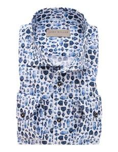 John Miller Blue Pottery Fantasy Overhemd Donker Blauw