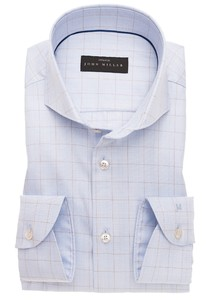 John Miller Check Cotton Stretch Overhemd Bruin