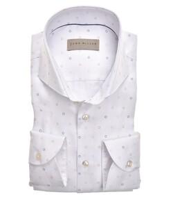 John Miller Circle Fine Pattern Overhemd Wit