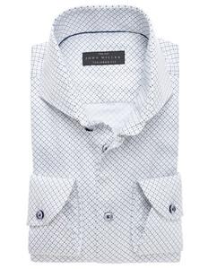 John Miller Diagonal Fantasy Shirt White