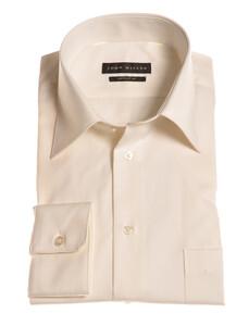 John Miller Dress-Shirt Non-Iron Shirt Ecru