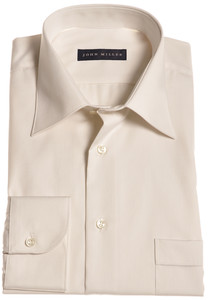 John Miller Dress-Shirt Non-Iron Shirt Light Sand
