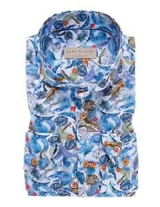 John Miller Fantasy Fauna Overhemd Licht Blauw