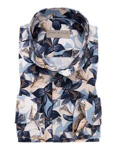 John Miller Fantasy Floral Pattern Overhemd Midden Blauw