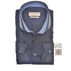 John Miller Faux Contrast Tailored Fit Shirt Dark Evening Blue