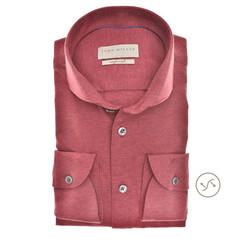 John Miller Faux Uni Slim Fit Overhemd Blauw-Bruin