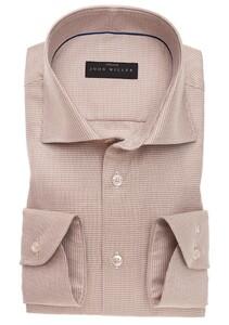 John Miller Fine Contrast Cotton Stretch Overhemd Bruin