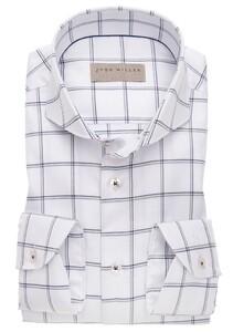 John Miller Fine Duo Check Overhemd Wit