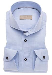 John Miller Fine Fantasy Check Contrast Shirt Light Blue