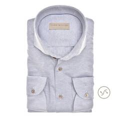 John Miller Fine Pattern Slim Fit Overhemd Licht Blauw