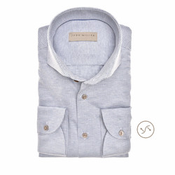 John Miller Fine Pattern Slim Fit Shirt Light Blue