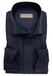 John Miller Fine Structure Sleeve 7 Shirt Navy