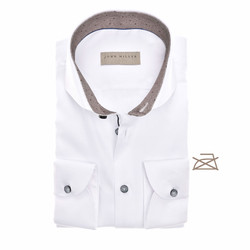 John Miller Fine Structure Tailored Fit Shirt White